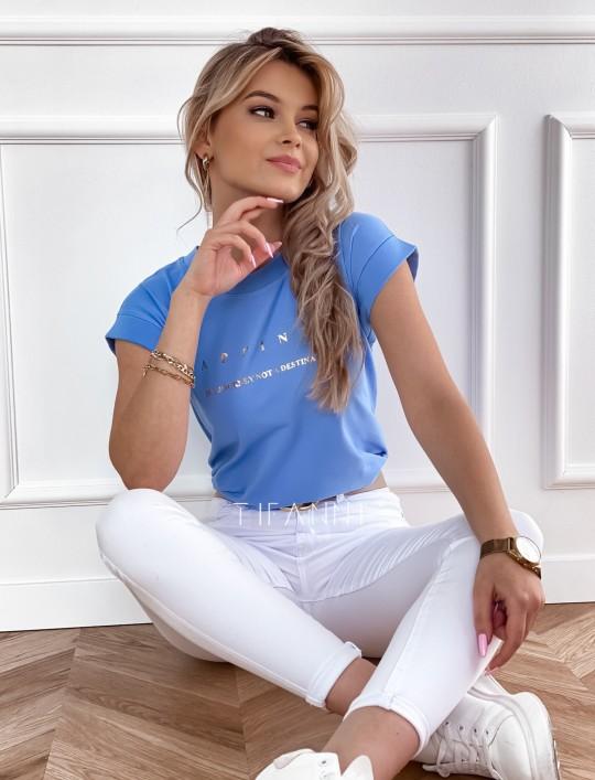 T-shirt happiness blue