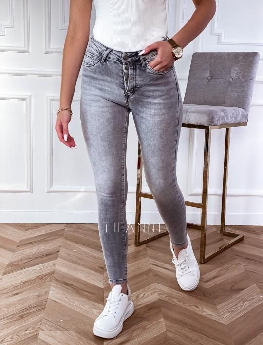 Spodnie jeansowe Papi szare