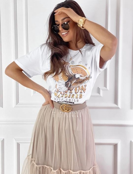 T-shirt Canyon biały
