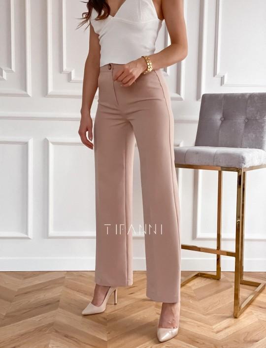 Eleganckie spodnie Salin beżowe