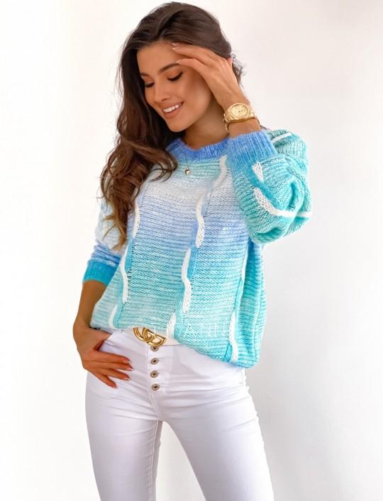Sweter Lizi z warkoczem
