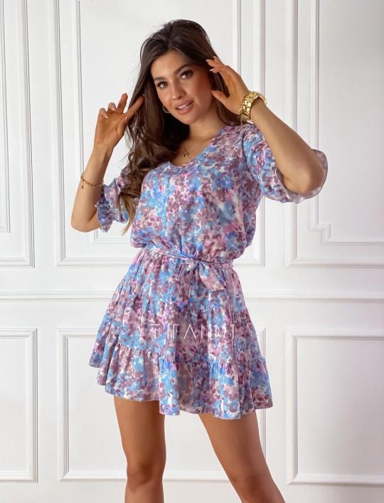 Sukienka Ammy w pastelowych kolorach