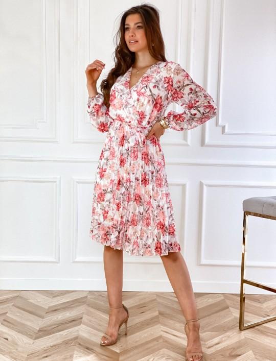Sukienka z plisowanym odcinanym dołem