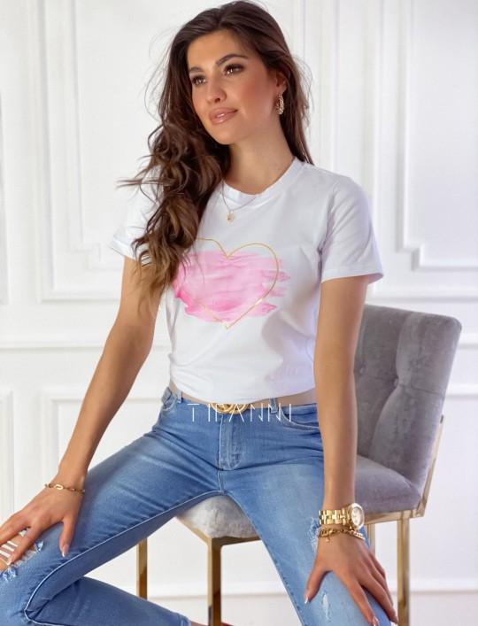 T-shirt Carmela biały