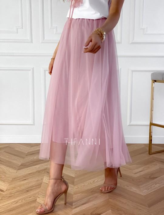Spódnica plisowana Fabio w kolorze pudrowym