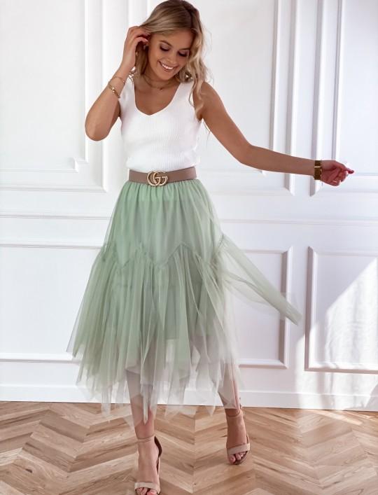 Tiulowa spódnica Tami miętowa