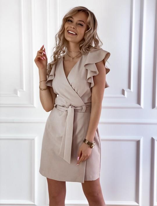 Elegancka sukienka Cristi beżowa