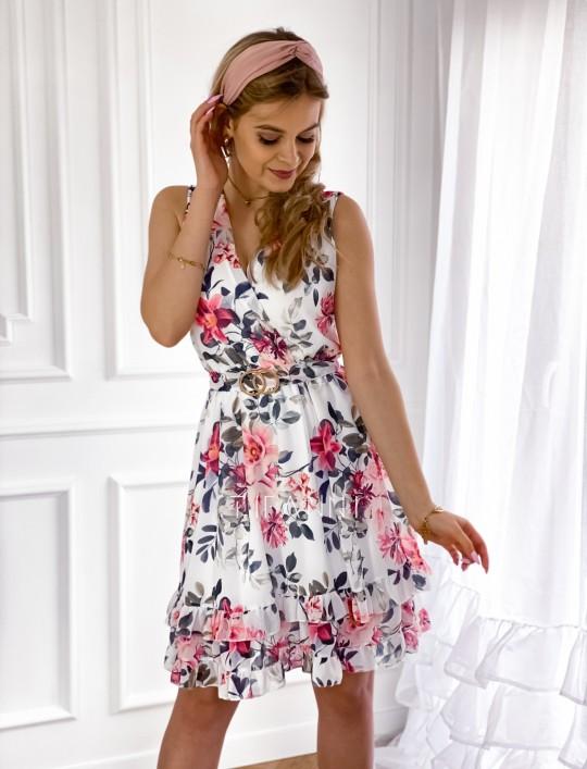 Szyfonowa kwiecista sukienka III