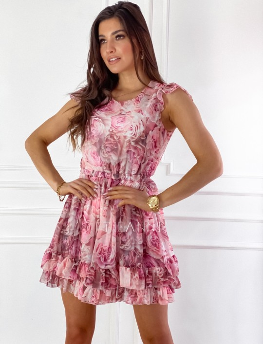 Zwiewna sukienka Passion rose
