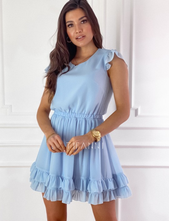 Zwiewna sukienka Passion błękitna