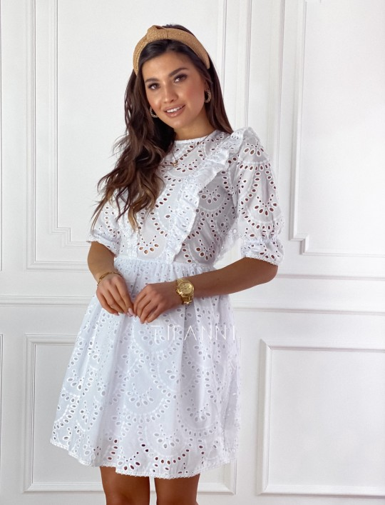 Ażurowa bawełniana sukienka Quinni