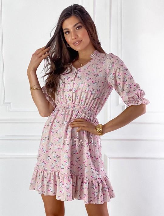 Sukienka z kwiatowym printem Bella