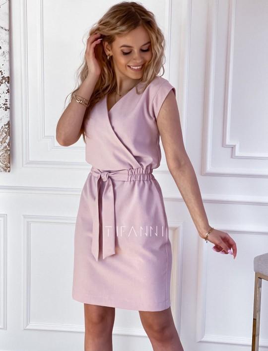 Elegancka sukienka Alexia pudrowa