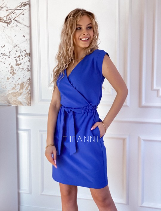 Elegancka sukienka Alexia kobaltowa