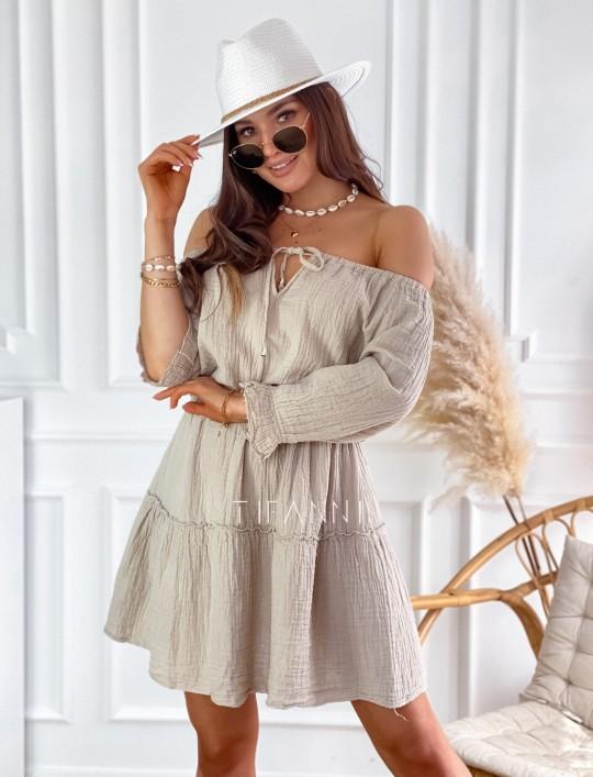 Sukienka Luci beżowa
