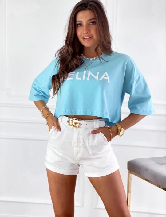 T-shirt Celina błękitna