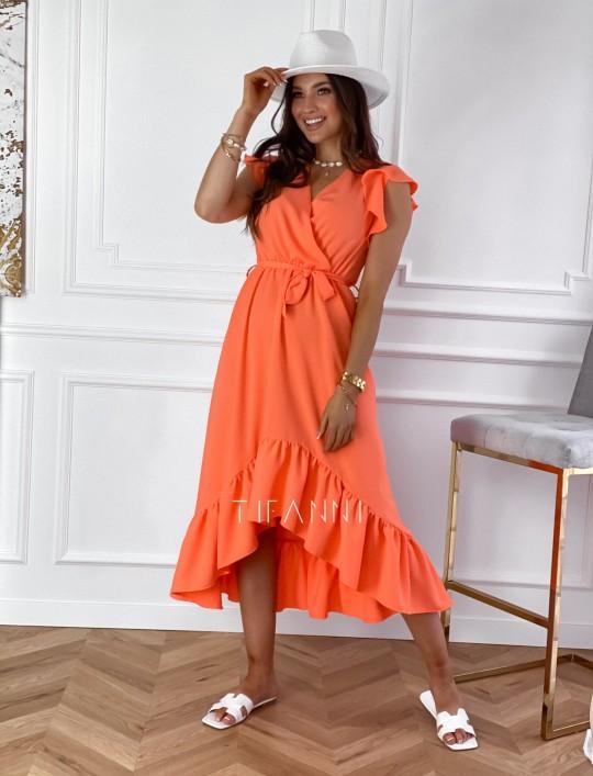 Sukienka Maestro maxi orange