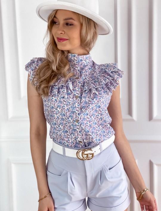 Bluzka koszulowa z żabotem Loret