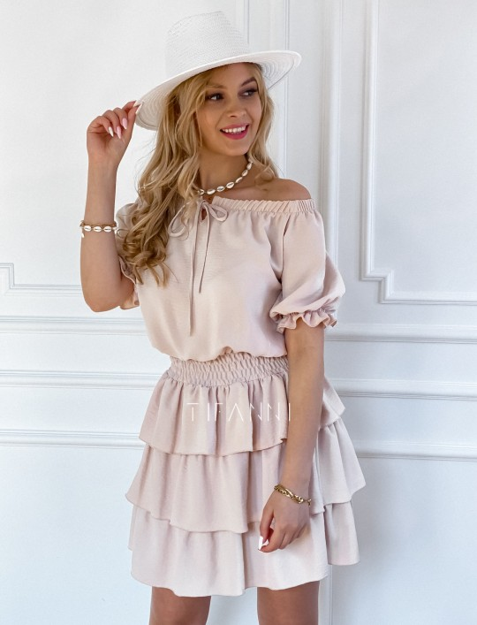 Sukienka Milo beżowa