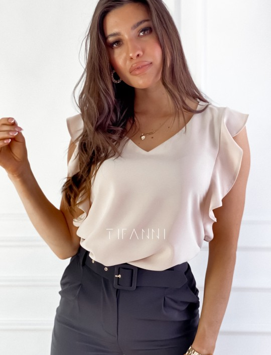 Bluzka Lilien beżowa