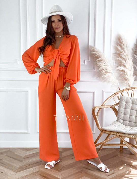 Komplet bluzka ze spodniami Vigo orange