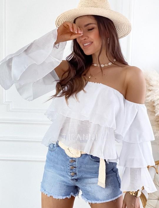 Bluzka hiszpanka Vibes biała