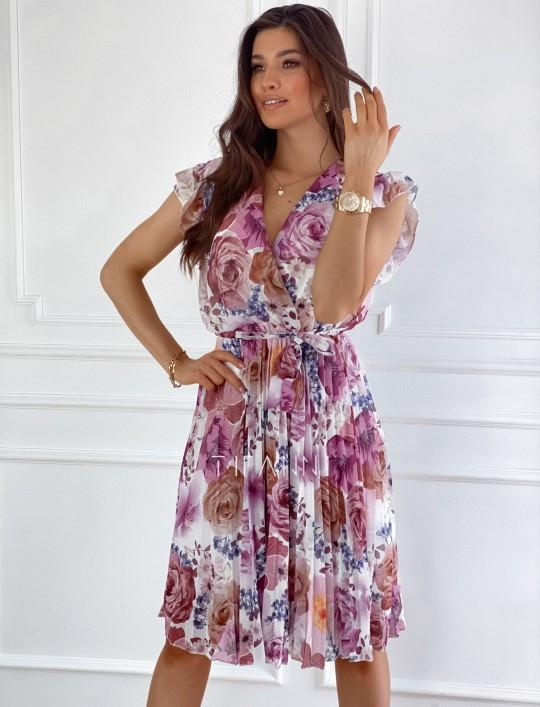 Plisowana kwiatowa sukienka Valeria II