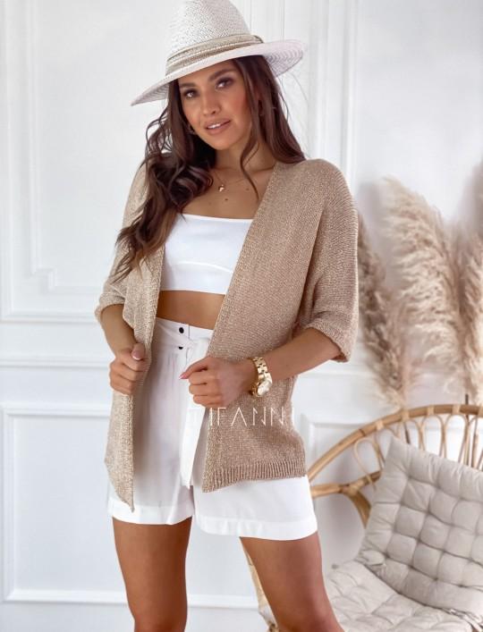 Złoty sweter kardigan Kori