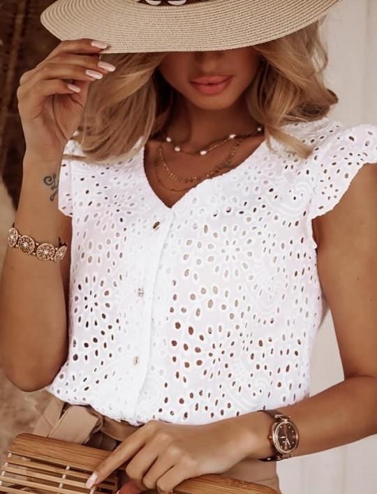 Bluzka koszulowa Paula biała