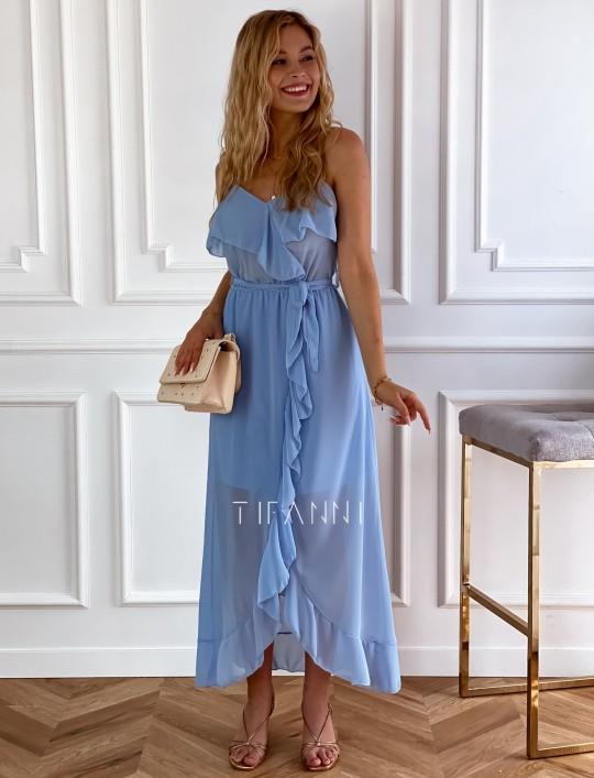 Długa sukienka Vegas blue