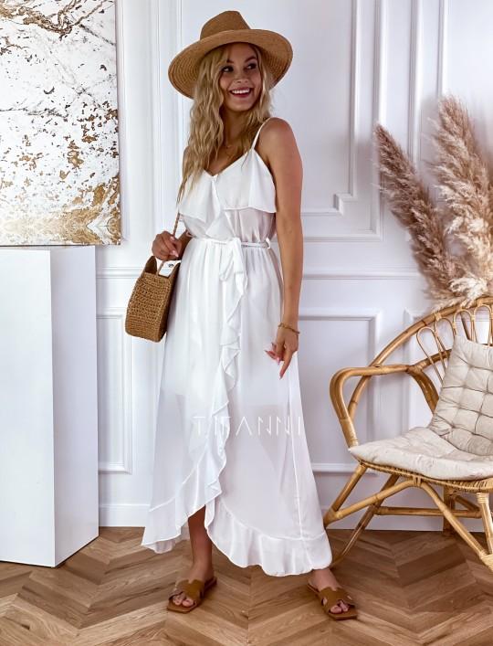 Długa sukienka Vegas white