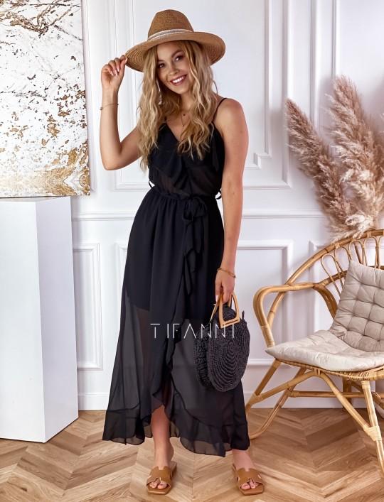 Długa sukienka Vegas black