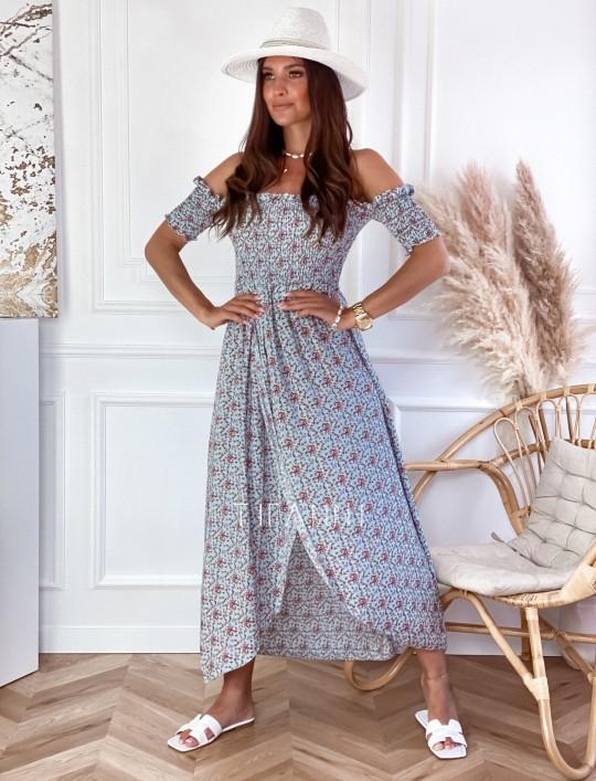 Sukienka hiszpanka Flora łączka miętowa