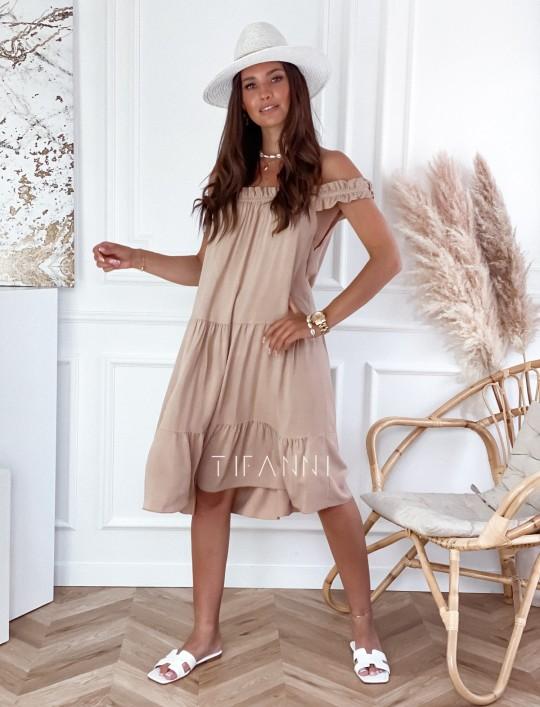 Sukienka Lupin beżowa
