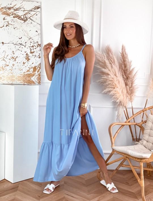 Zwiewna sukienka Julia maxi błękitna