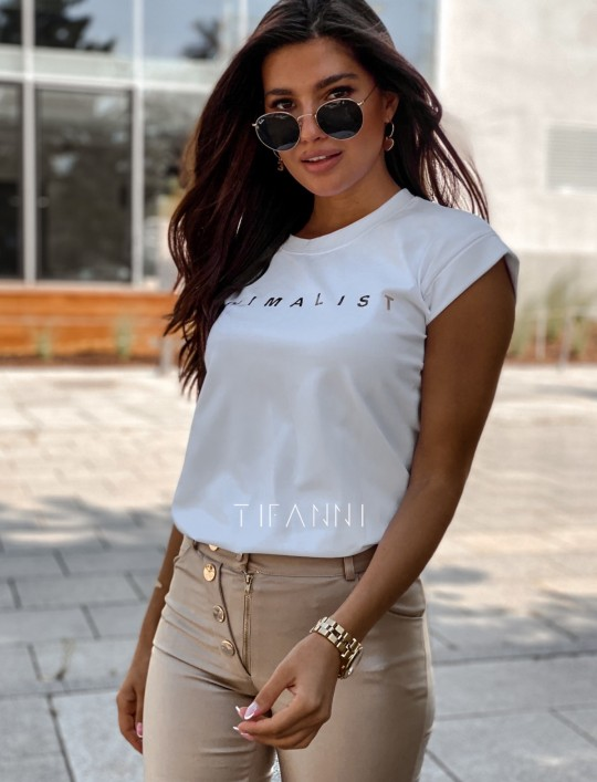 T-shirt minimalist biały