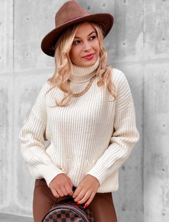 Sweter golf Blanco śmietankowy