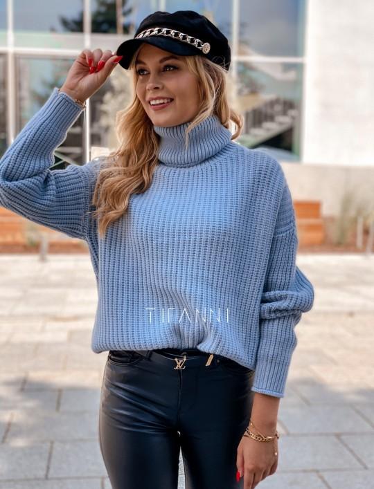 Sweter golf Blanco błękitny
