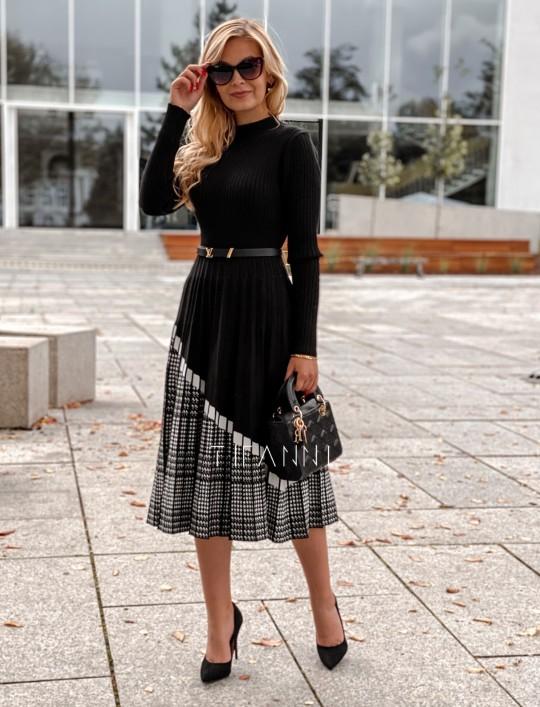 Sukienka Kaja dzianinowa czarna