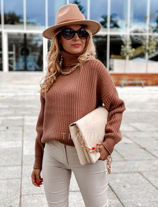 Sweter golf Blanco karmelowy