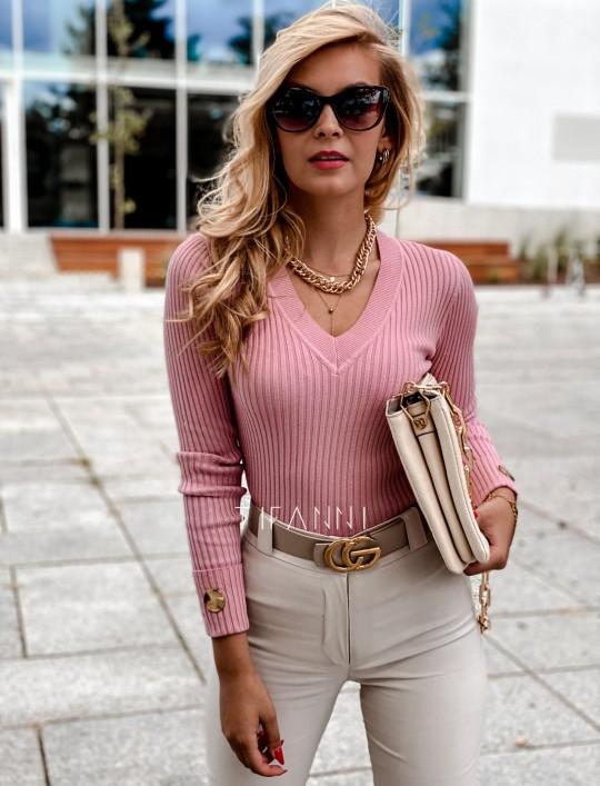 Bluzka Hellen w kolorze pudrowa