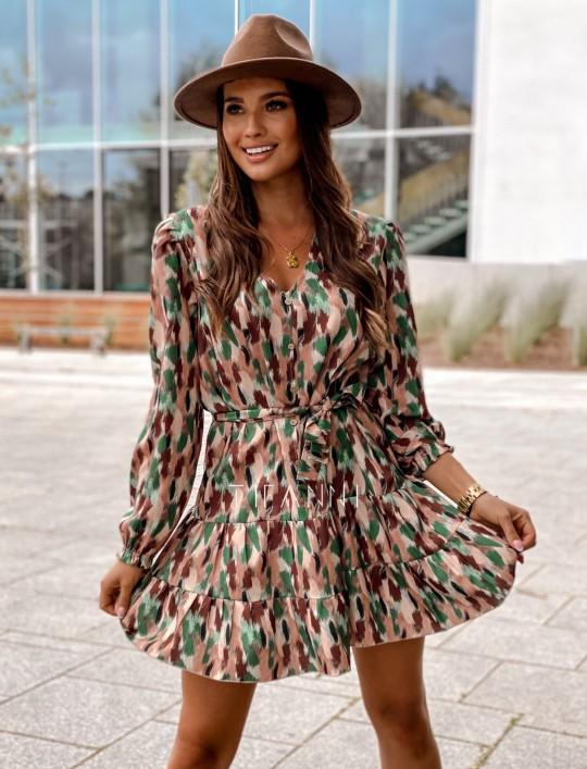 Sukienka Xami z guziczkami na dekolcie