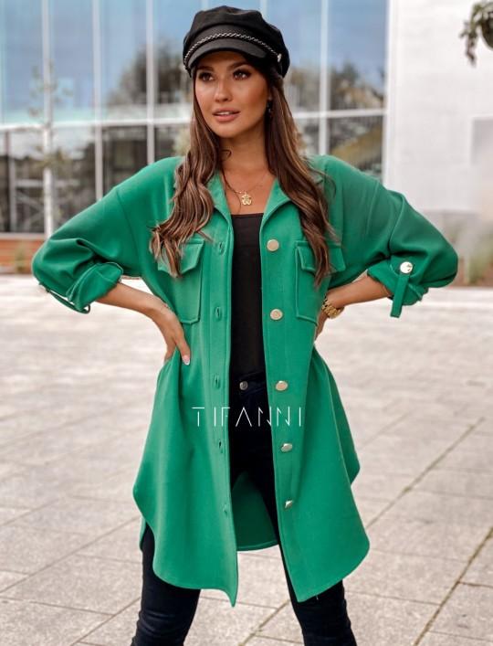 Płaszcz koszulowy Viki zielony