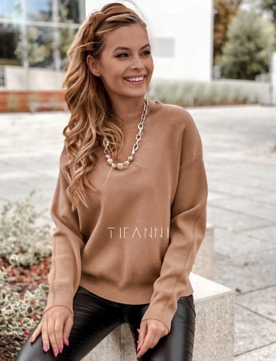 Bluzka sweter z łańcuszkiem Marco