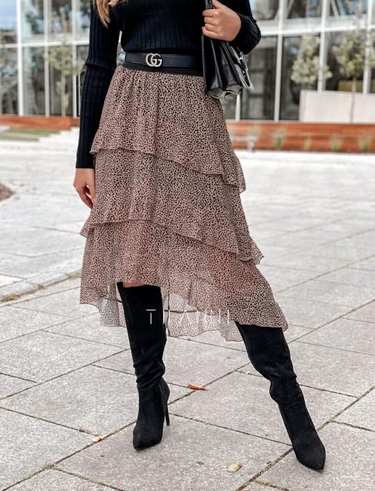 Spódnica asymetryczna Fensi karmelowa