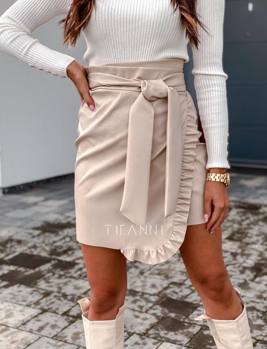 Skajkowa wiązana spódnica Clivi cream