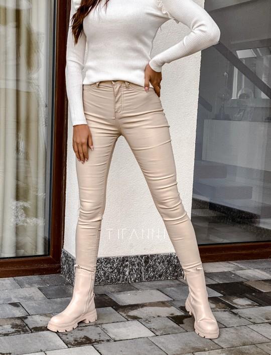 Spodnie woskobane Elin light beige