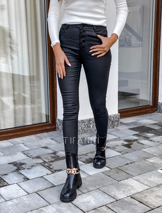 Woskowane spodnie Linz
