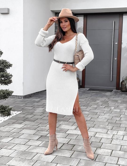 Sukienka swetrowa Flori cream