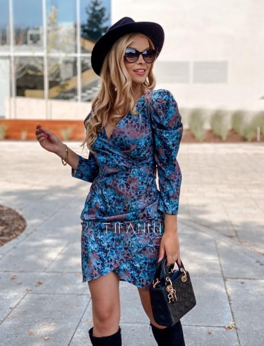 Sukienka z kopertowym dekoltem Rocca blue